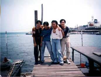 4 handsome guy from t4planet go to Port Dickson.